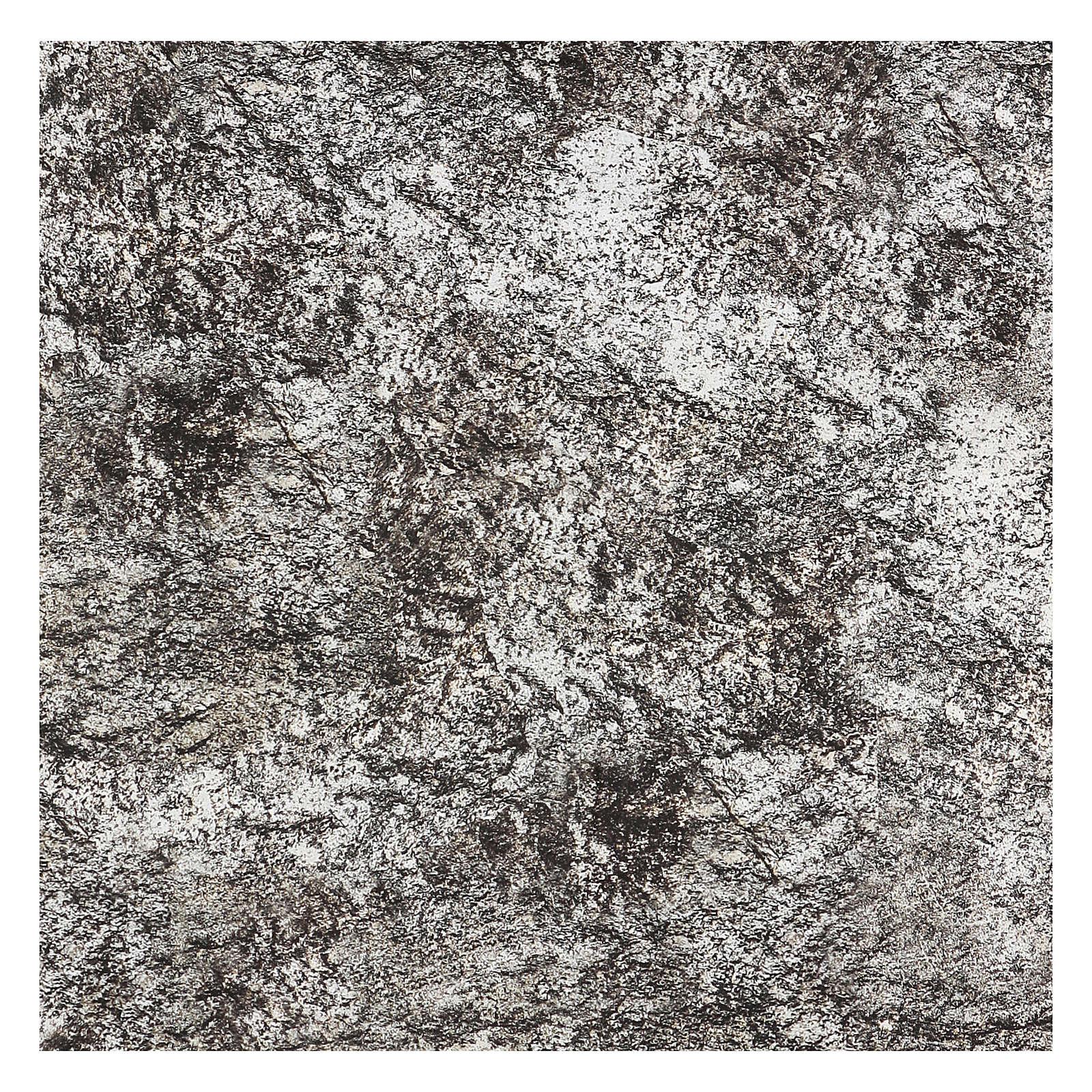 Papier à modeler crèche roche enneigée 120x60 cm 4