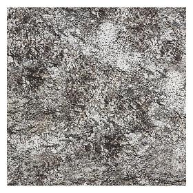 Papier à modeler crèche roche enneigée 120x60 cm s3