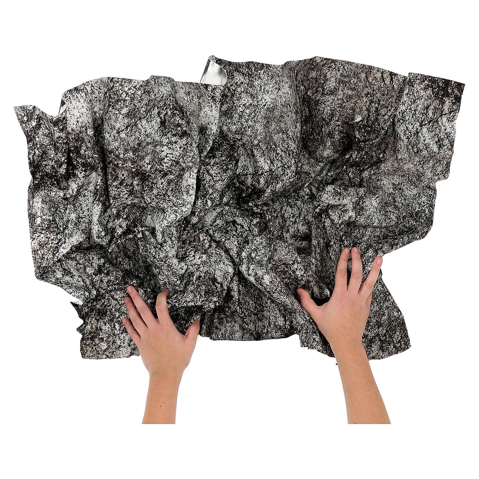 Carta presepe modellabile roccia innevata 120x60 cm 4