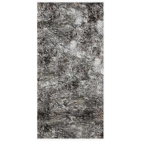 Carta presepe modellabile roccia innevata 120x60 cm s1