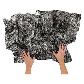 Carta presepe modellabile roccia innevata 120x60 cm s2