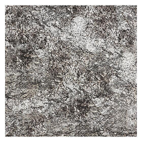 Carta presepe modellabile roccia innevata 120x60 cm s3