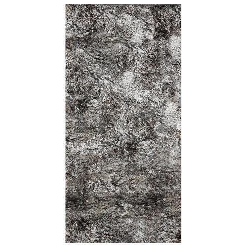 Carta presepe modellabile roccia innevata 120x60 cm 1