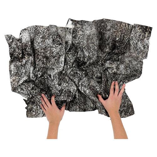 Carta presepe modellabile roccia innevata 120x60 cm 2