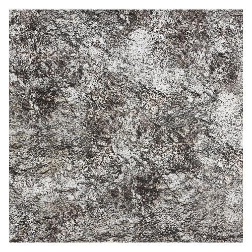 Carta presepe modellabile roccia innevata 120x60 cm 3