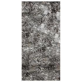 Paisagens, Cenários de Papel e Painéis para Presépio: Papel para modelar rocha nevada para presépio 120x60 cm
