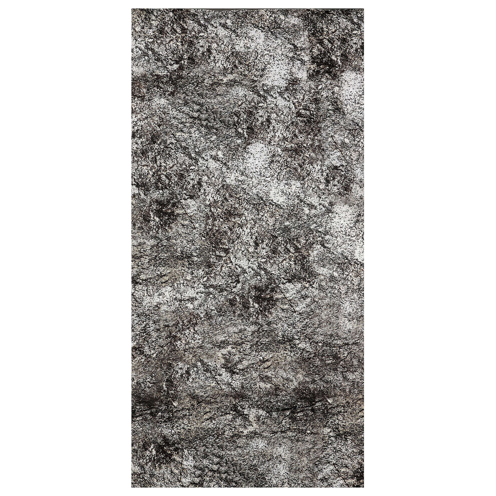 Nativity backdrop paper, snow covered rock 120x60 cm 4