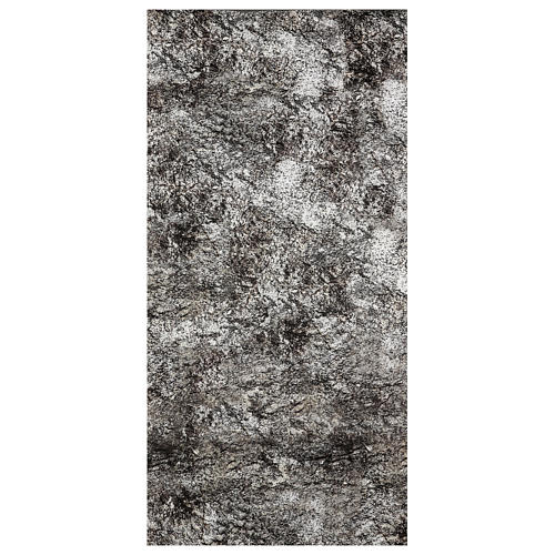 Nativity backdrop paper, snow covered rock 120x60 cm 1