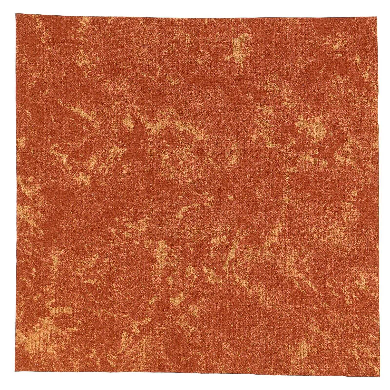 Carta modellabile terra rossa 30x30 cm per presepi 4