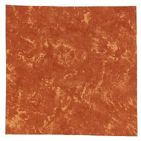Carta modellabile terra rossa 30x30 cm per presepi s1