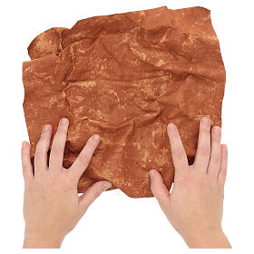 Carta modellabile terra rossa 30x30 cm per presepi s2