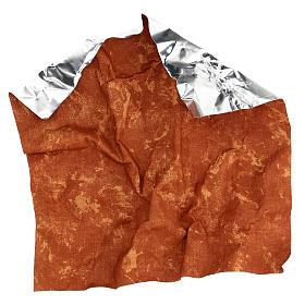 Carta modellabile terra rossa 30x30 cm per presepi s4