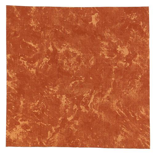 Nativity backdrop, red Earth 30x30 cm 1