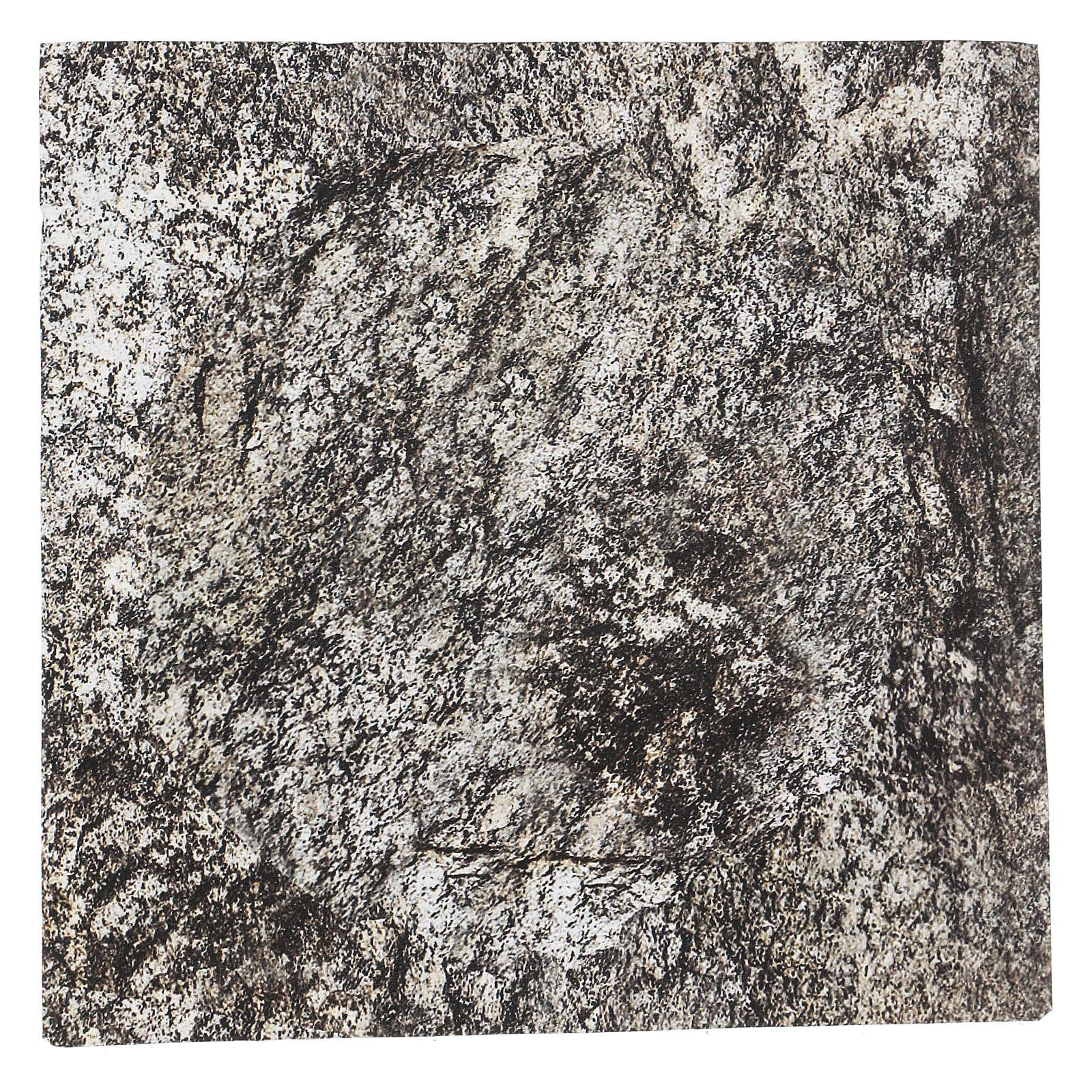 Carta plasmabile roccia 30x30 cm per presepi 4
