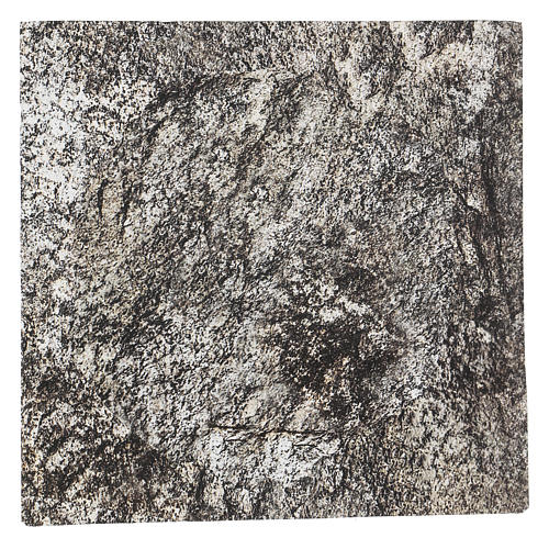 Carta plasmabile roccia 30x30 cm per presepi 1