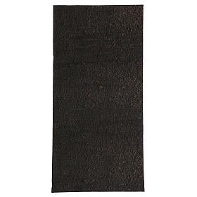 Carta modellabile terra scura 60x30 cm per presepi s1