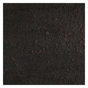 Carta modellabile terra scura 60x30 cm per presepi s3
