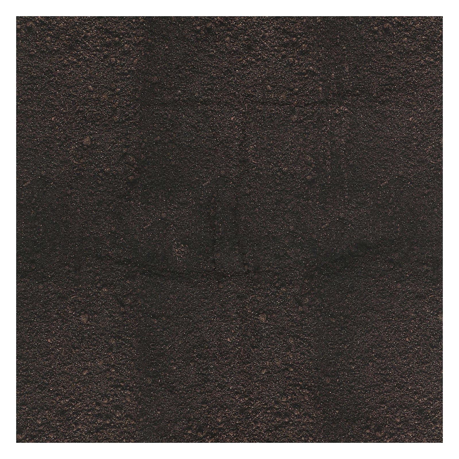 Papel tierra oscura modelable 120x60 cm para belenes 4