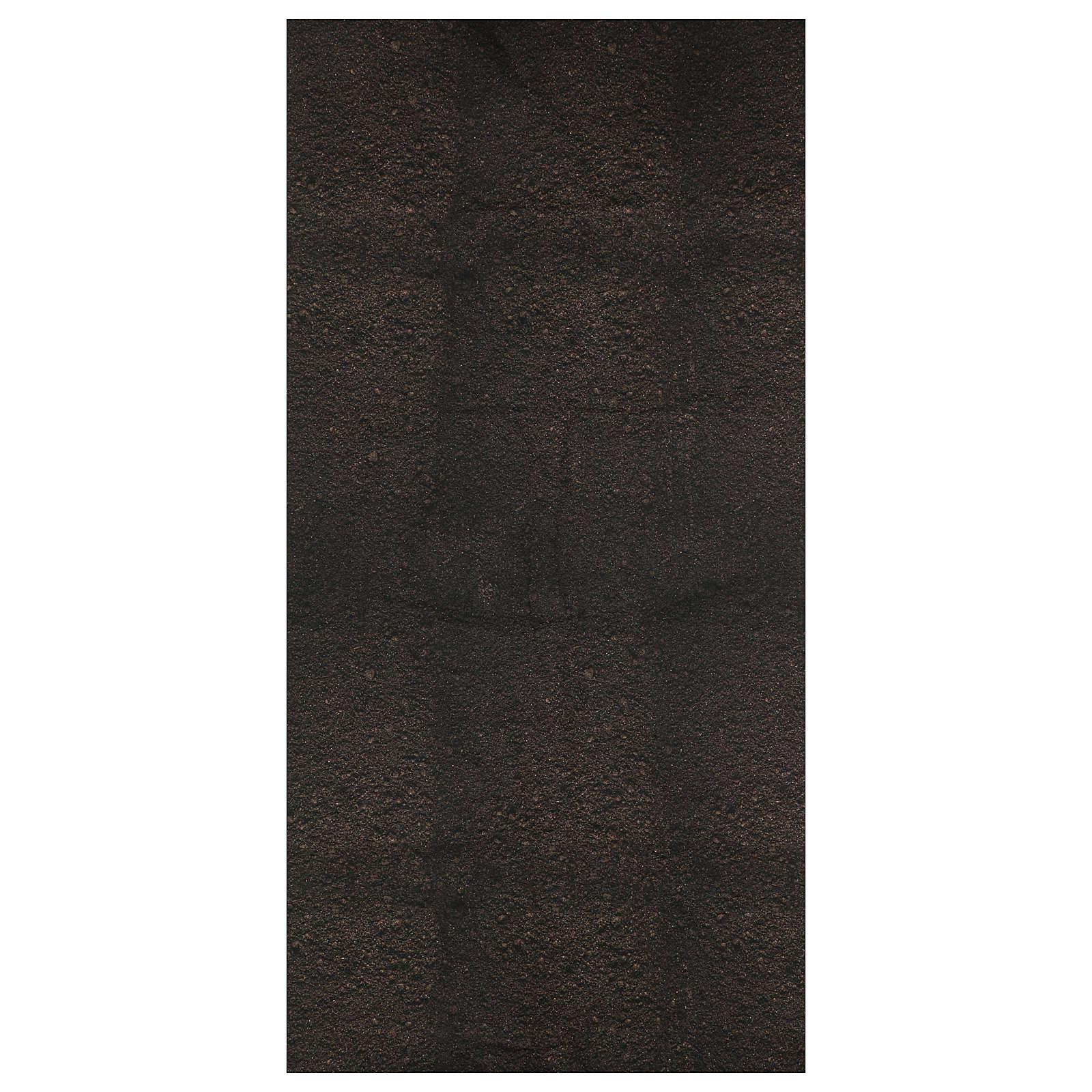 Carta terra scura plasmabile 120x60 cm per presepi 4