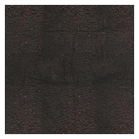 Carta terra scura plasmabile 120x60 cm per presepi s3