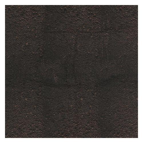 Carta terra scura plasmabile 120x60 cm per presepi 3
