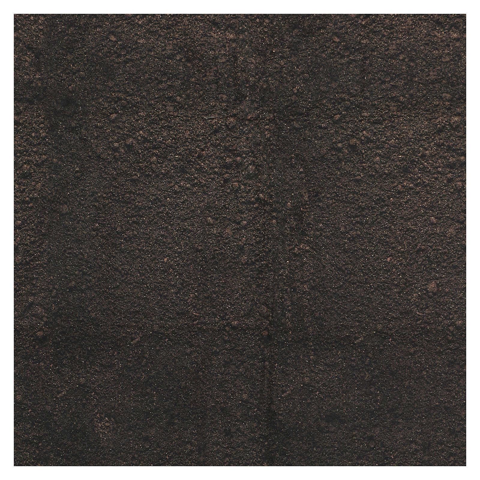 Papel modelable tierra oscura 60x60 cm para belenes 4