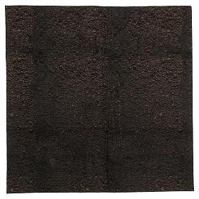 Papel modelable tierra oscura 60x60 cm para belenes s1