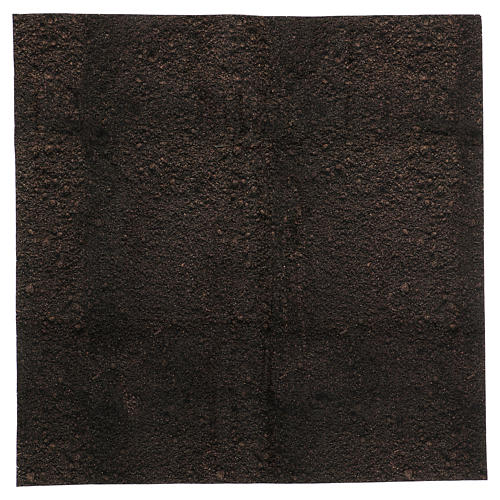 Papel modelable tierra oscura 60x60 cm para belenes 1