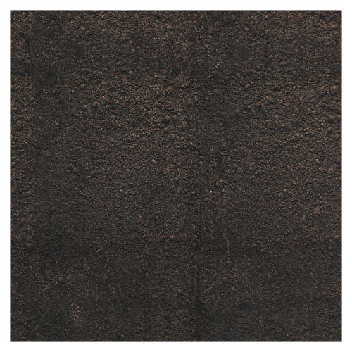 Papel modelable tierra oscura 60x60 cm para belenes 3