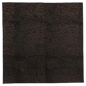 Carta plasmabile terra scura 60x60 cm per presepi s1