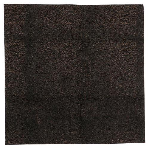 Carta plasmabile terra scura 60x60 cm per presepi 1