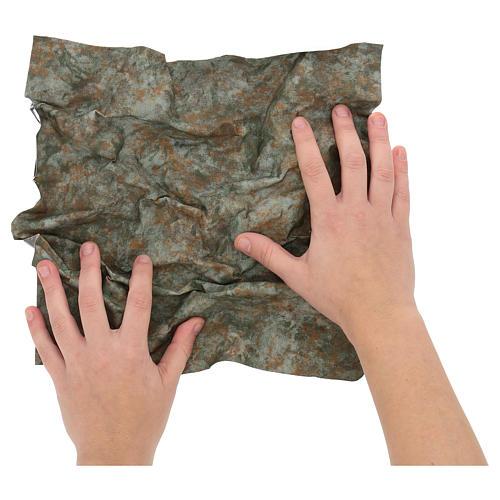 Carta tronco d'albero modellabile 30x30 cm per presepi 2