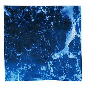Modellierbares Papier für Krippe Wassereffekt 30x30cm s1