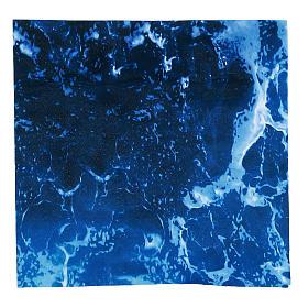 Paisagens, Cenários de Papel e Painéis para Presépio: Papel para modelar água para presépio 30x30 cm