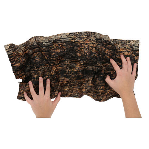 Tree bark paper shapeable 60x30 cm for nativity scene 2