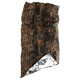 Tree bark paper shapeable 60x30 cm for nativity scene s4