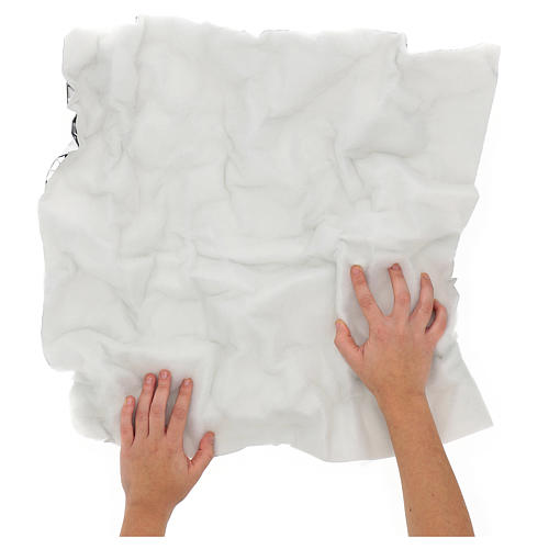 Papel con guata nieve modelable 60x60 cm para belenes 2