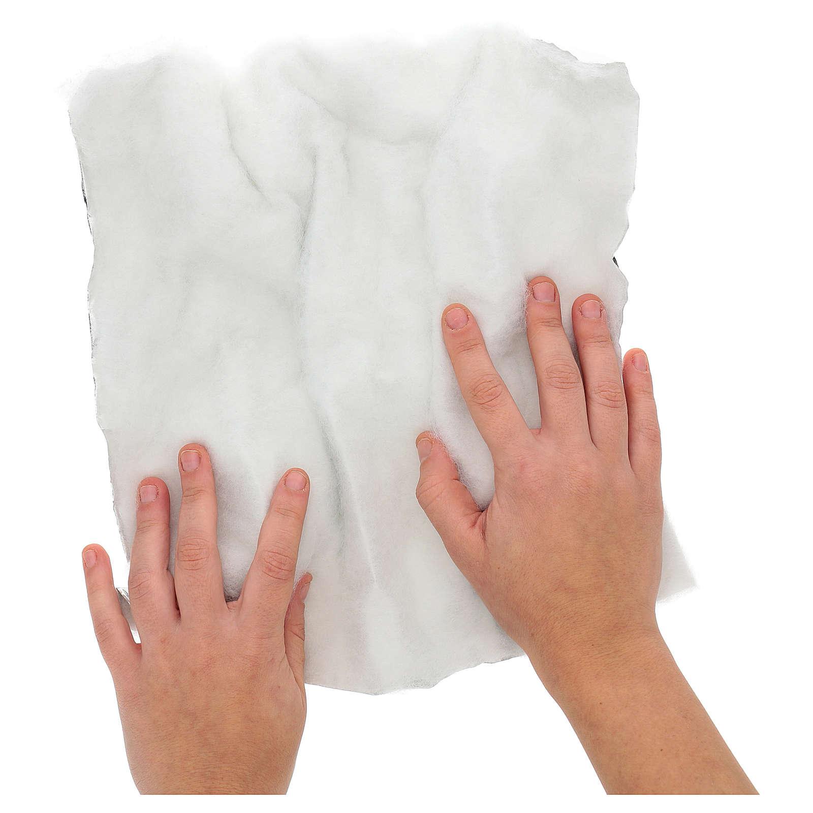 Papel modelable nieve con guata 30x30 cm para belenes 4