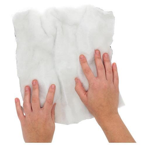 Papel modelable nieve con guata 30x30 cm para belenes 2