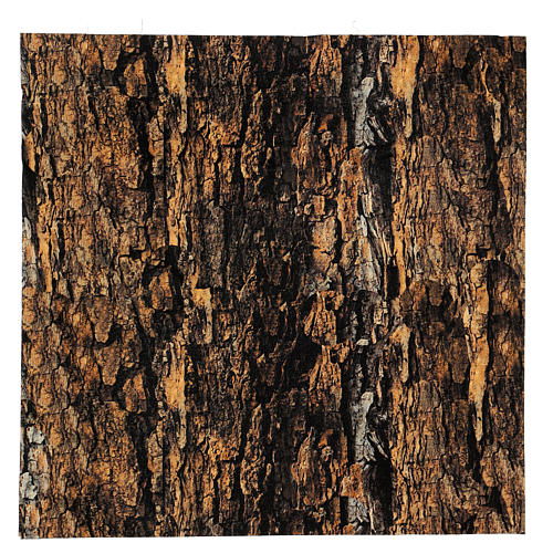 Mouldable tree bark paper for Nativity scene 30x30 cm 1