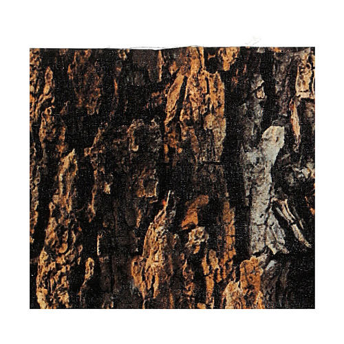 Mouldable tree bark paper for Nativity scene 30x30 cm 3