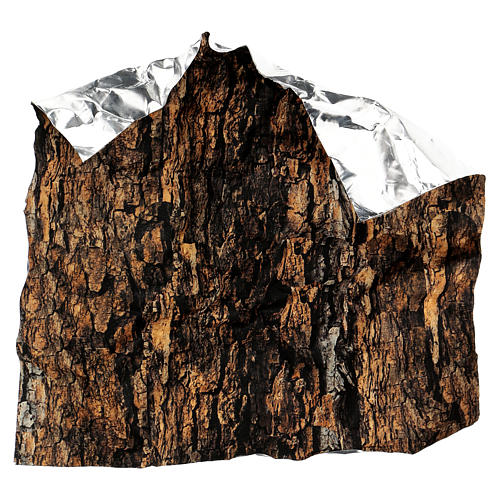 Mouldable tree bark paper for Nativity scene 30x30 cm 4