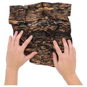 Cork paper for nativity scene moldable 30x30 cm s2