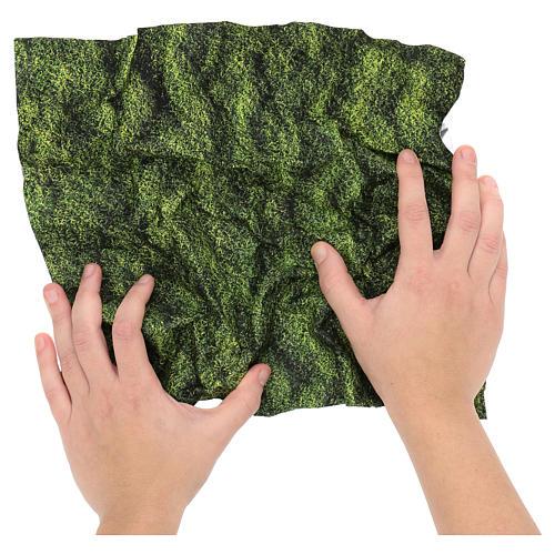 Modellierbares Papier für Krippe Mooseffekt 30x30cm 2