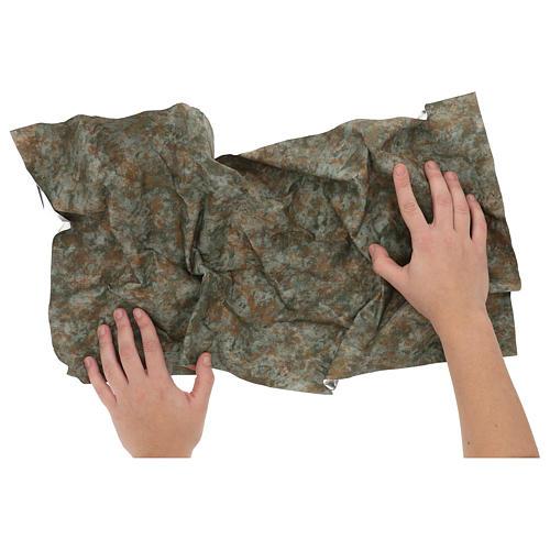 Modellierbares Papier für Krippe Rinde-Effekt 60x30cm 2