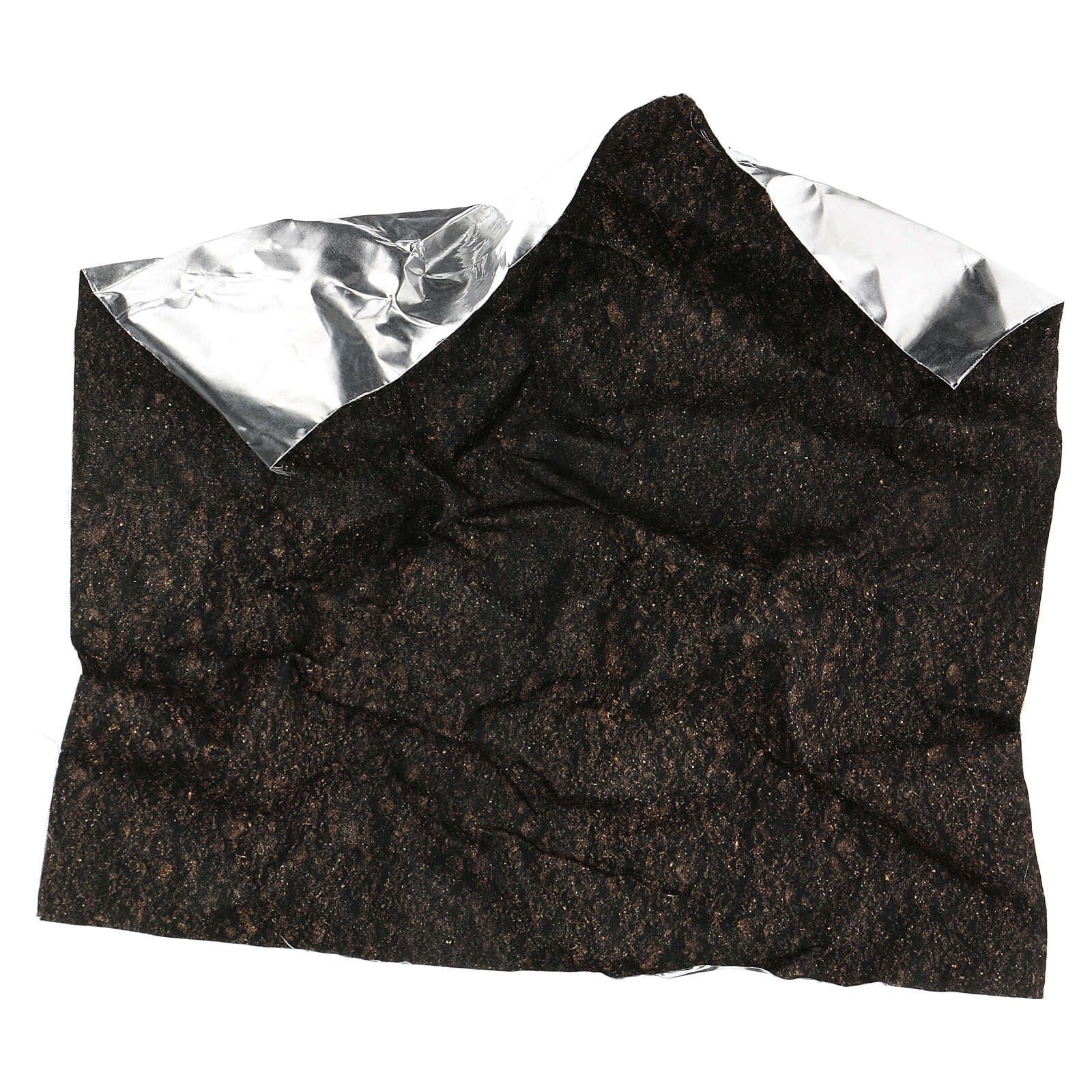 Dark soil paper shapeable 30x30 cm for nativity scenes 4