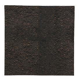 Dark soil paper shapeable 30x30 cm for nativity scenes s1