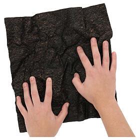 Dark soil paper shapeable 30x30 cm for nativity scenes s2