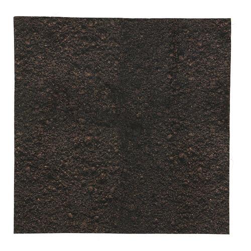 Dark soil paper shapeable 30x30 cm for nativity scenes 1