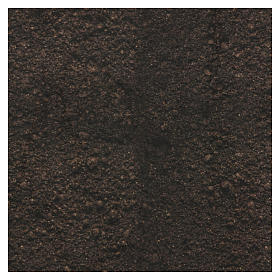 Papel tierra oscura modelable 30x30 cm para belenes s3